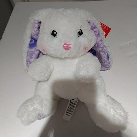 89bf5f95b3d Aurora teddy bear white with floral rabbit ears